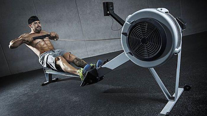 Какие группы мышц работают на гребном тренажере